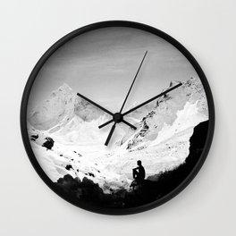 Snowy Isolation Wall Clock