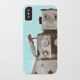 Robot girl iPhone Case