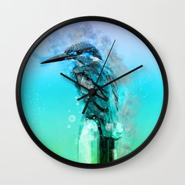 The colorful life of a King Fisher Wall Clock