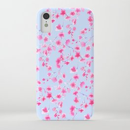 Cherry Blossoms Periwinkle (For Mackenzie) iPhone Case