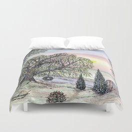 The Lone Willow Duvet Cover