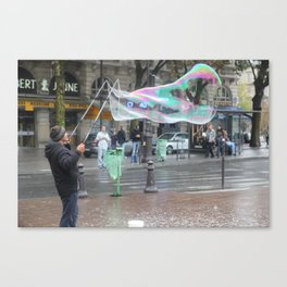 The Bubble Master Canvas Print