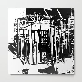 Trash City Metal Print