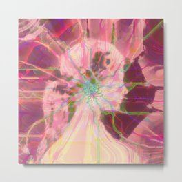 Fractal Abstract Female 2 Metal Print