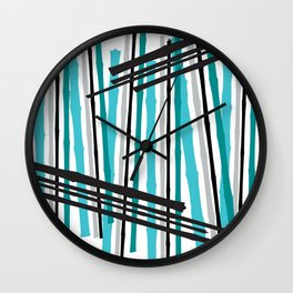 Jib Street Abstract Bamboo Wall Clock
