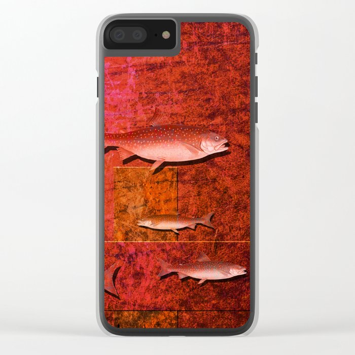 Coral Shadows, Swimming Fish Clear iPhone Case