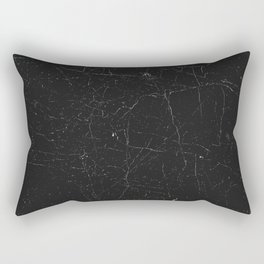Black distressed marble texture Rectangular Pillow