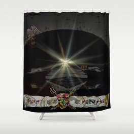 Pirates in the canal tunnel Shower Curtain