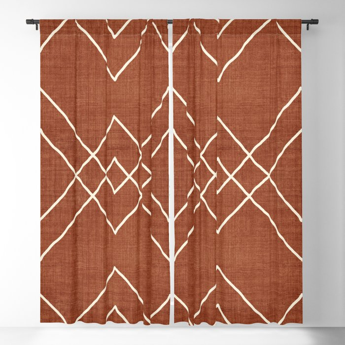 Nudo in Rust Blackout Curtain