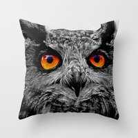anaconda Throw Pillows featuring YOU'RE THE ORANGE OF MY EYES by Catspaws