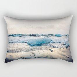 Diamond Beach, Iceland 2 #photography #iceland Rectangular Pillow