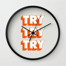 Try Try Try Wall Clock