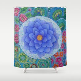 Violet Flower Mandala Shower Curtain