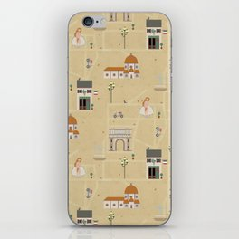 Florence Map Print Illustration iPhone Skin