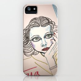 Hedy in Blue iPhone Case