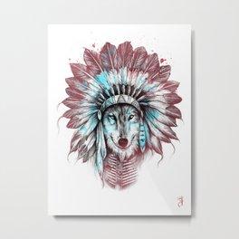 Chief Wolf Metal Print
