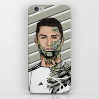 real madrid iPhone & iPod Skins featuring Football Legends Cristiano Ronaldo Real Madrid Robot by Akyanyme