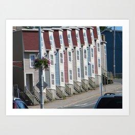 Colorful Houses St Johns Newfoundland Canada Art Print