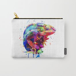 Panther Chameleon Watercolor Carry-All Pouch