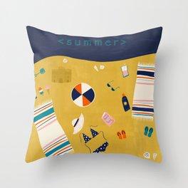 Summer Celebration Throw Pillow