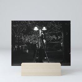 lighting the night Mini Art Print