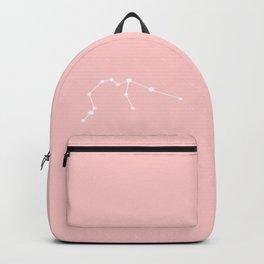Aquarius Star Sign Soft Pink Backpack
