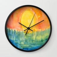 hindu Wall Clocks featuring Hindu Creation by Brusling