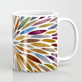 Watercolor Burst – Retro Palette Coffee Mug