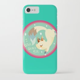 I Don't Give A FOX! .:Green BG:. iPhone Case