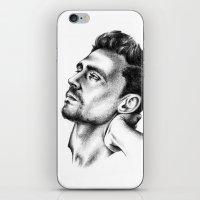 tom hiddleston iPhone & iPod Skins featuring Tom Hiddleston 2 by aleksandraylisk