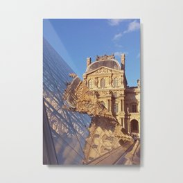 Pyramid at the Louvre Metal Print