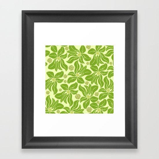 leafy pattern II Framed Art Print