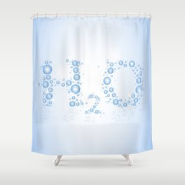 Water drops with background Shower Curtain
