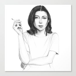 Joan Didion Canvas Print