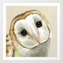 Together We Drift  - A Barn Owl Art Print