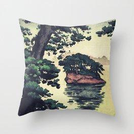 Autumn Rain in Yama Throw Pillow