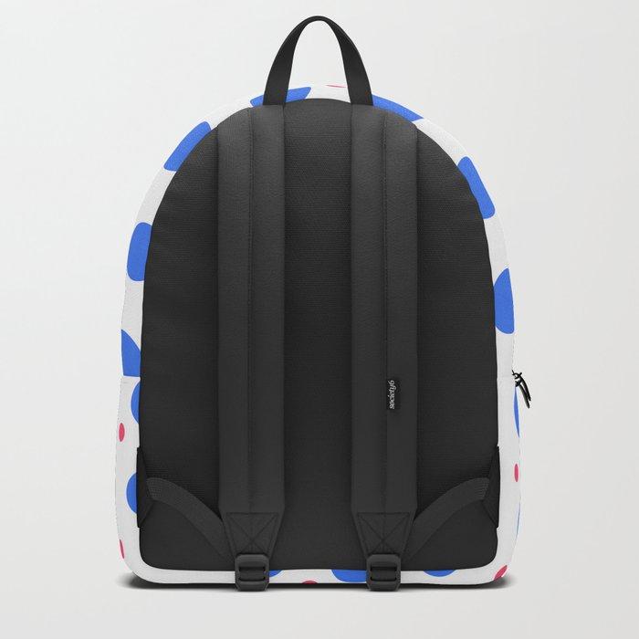 Big Blue Dots Pattern Backpack