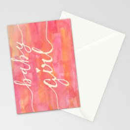 It's a baby girl Stationery Cards