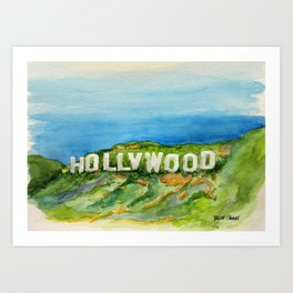 Hollywood Sign - An American Cultural Icon Art Print