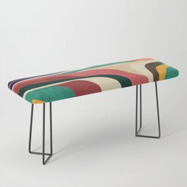Impossible contour map Bench