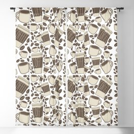 More Coffee Please: Beans Mugs & Cups Blackout Curtain
