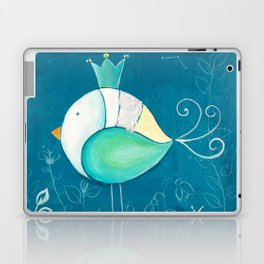 Little prince with a green crown Laptop & iPad Skin