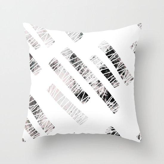 more stripes / black Throw Pillow