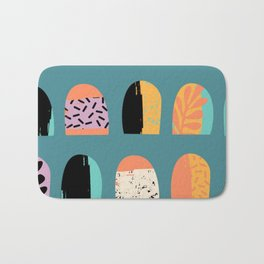 ABSTRACT COOL JUNGLE ARCHWAY PATTERN Bath Mat