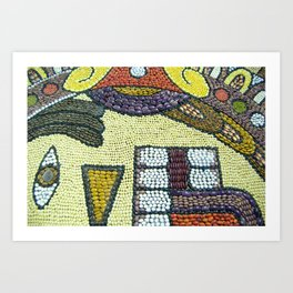 Mexican craftwork. Indigenous tradition Art Print