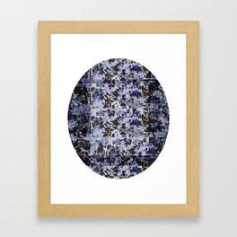 Purple Circle Pattern Framed Art Print