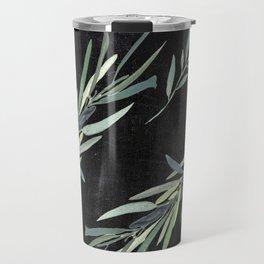 Eucalyptus leaves on chalkboard Travel Mug