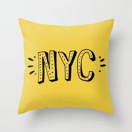 NYC lettering series: #2 Throw Pillow