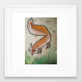 Fox Trot Framed Art Print