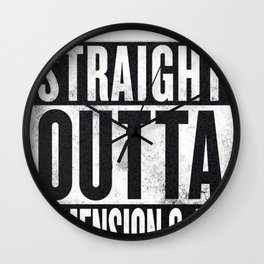 Rick and Morty - Straight Outta Dimension C-137 Wall Clock